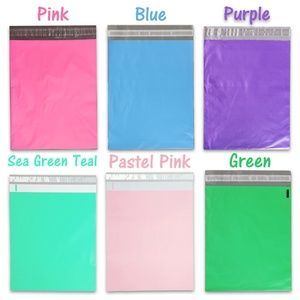 """100 Pack 12x15"""" Colored Poly Mailers, Your Choice!"""